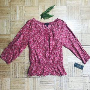 RALPH LAUREN • floral boho blouse